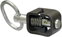 "Spring Latch, 5/8"" Pin Size, Weld-On, Zinc"