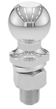 "Hitch Ball 2 "" Chrome 1"" X 2-3/8"" Shank 10K"