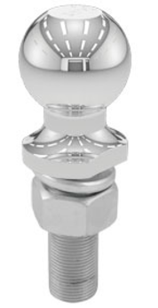 "Hitch Ball 2"" Chrome 1"" X 2-1/8"" Shank 5K"