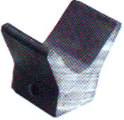 "Marine Rubber Bow Guard 2""W X 3/8""Hole"