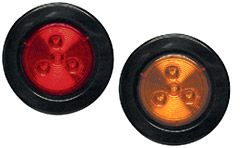 "2-1/2"" Round Sealed LED Clearance/Marker Light, Amber"