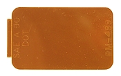 "Rectangular Microprism Reflector, Amber, 2-3/4"" X 1-3/4"""
