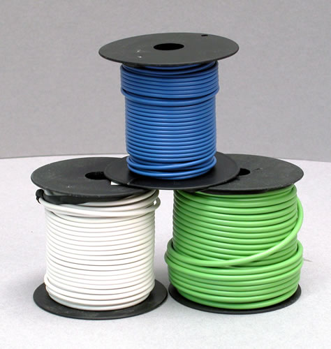 Wire, 10-GA, Blue, 100' Roll