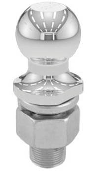 "Hitch Ball 2"" Chrome 1-1/4"" X 2-3/4"" Shank 13K"