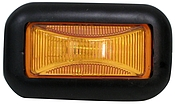 Clearance Light, Amber, Sealed W/Rubber Grommet