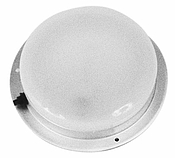 Switch Dome Light, Clear, Round W/Aluminum Housing