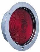 Tail Light Red Reflective, Stop, Turn, Flush Mount, Brass Socket