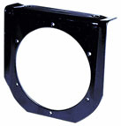 "Tail Light Bracket, Black Steel, For 4"" Round Lights"