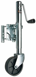 Bolt-On Swivel Jack W/Wheel, 850 Lb Lift Cap