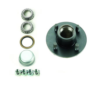 "4-Bolt, 4"" Bolt Circle, Idler Hub Assembly Complete, Ez-Lube"