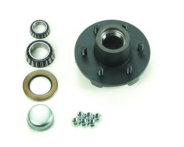 "6-Bolt, 5.5"" Bolt Circle, Idler Hub Assembly Complete, 2-1/4"""