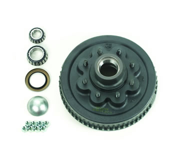 "8-Bolt, Hub & Drum Assembly Complete, 2-1/4"" I.D. Seal"