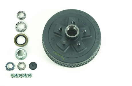 "4.5"" Bolt Circle, Hub & Drum Asby, Ez Lube, 10"" X 2-1/4"""