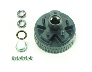 "4.5"" Bolt Circle, Hub & Drum Assy Complete, Ez, Drum 7"" X 1-3/4"""