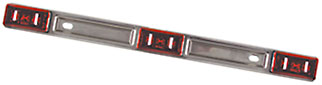 LED ID Bar W/3-Light, Stainless Steel, Red