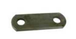 "Shackle Strap 2-5/8"" Long, 1-1/4"" Width, 9/16"" Holes"