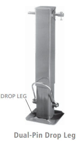 Dropleg Jack No Spring Load, Hdle Incl, Lift Cap 12.5K