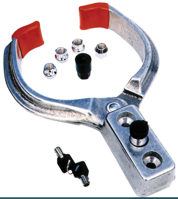 "Clamp Style Wheel Lock W/1/2"" Lug Nut Locks"