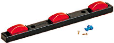 "LED ID Bar Black Poly Sealed 3-Piece, Red, W/50"" Wire"