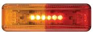 LED Fender Mount Clearance Light, Red/Amber